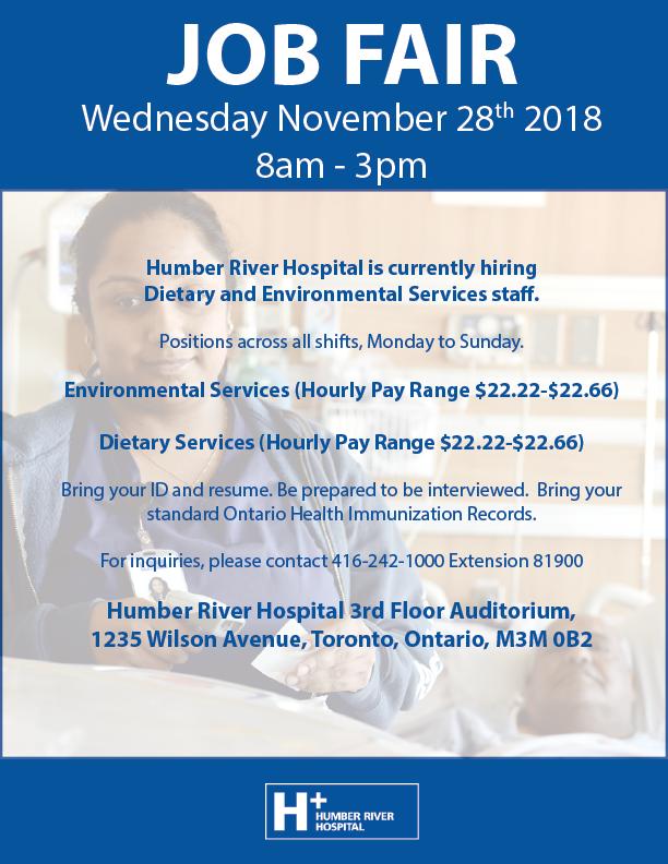 Humber River Hospital is Hiring! - Humber River Hospital