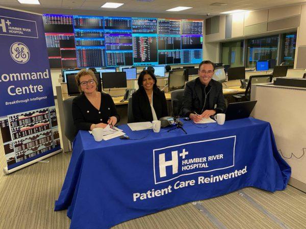 Barbara Collins, President & CEO; Dr. Tasleem Nimjee, ER Doctor; John Derringer, Q107 radio personality